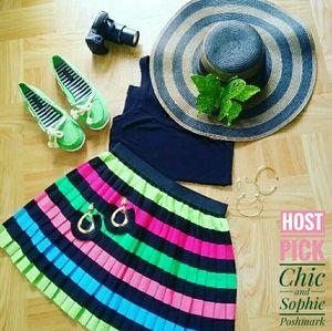 H&M Rainbow Pleated Style Skirt